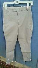 NWT GORRINGE England Tan Cotton Tab Front Riding Pants Breeches Size 28 R or L