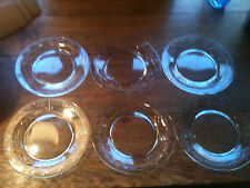"6 BEAUTIFUL VINTAGE 8-1/2"" CUT GLASS DESSERT / CAKE / SALAD PLATES"