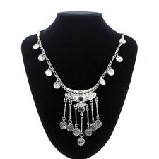Womens Ladys Jewelry Zinc Alloy Long Chain Coin Tassel Pendant Sweater Necklace
