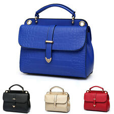 Fashion CROCO Women's Leather Handbag Shoulder Bag Tote Messenger Bag Purse