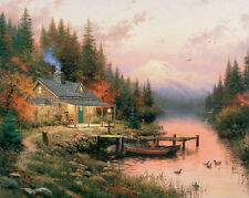 Thomas Kinkade -The End Of A Perfect Day- Art Canvas HD Print Wall decor picture