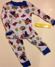 Nintendo 's SUPER MARIO Pajamas PJs Boys Sizes 4  6  8  10  BAM!