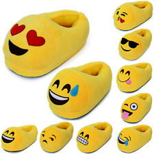 Unisex Emoji Smiley Plush Stuffed Slippers Cartoon Winter Home Indoor Warm Shoes