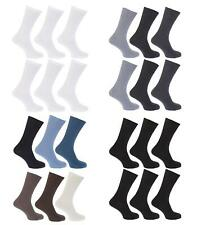 6 Pairs Gents Non Elastic Loose/ Soft Top Cotton Diabetic Socks 6-11 or 11-14