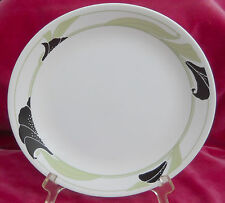 CORELLE BLACK ORCHID DINNER PLATES 2 LOT RARE CORNING