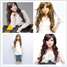 Women Long Short Wavy Curly Synthetic Wigs Cosplay Full Anime Wig Natural Hair