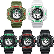 New Mens Watches LED Digital Date Alarm Waterproof Rubber Sports Army Wristwatch