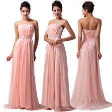 PRETTY Strapless Long Bridesmaid Ball Gown Formal Evening Prom Party Maxi Dress