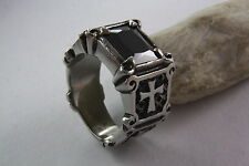 CROSS RING GOTHIC BLACK ONYX STONE Stainless steel Stainless steel 378