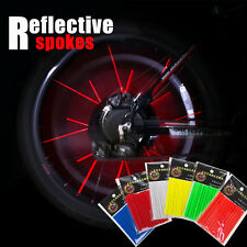 Bike Bicycle Spoke Wheel Tube Multicolor Reflector Reflective Safety Stocking 12