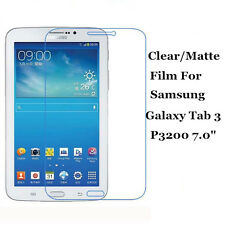 "Clear/Matte Screen Protector Film Shield Lot For Samsung Galaxy Tab 3 7.0"" P3200"