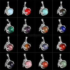 1 PC Silver Plated Dragon Claw Wrap Ball Beads New Gemstone Pendant Necklace J50