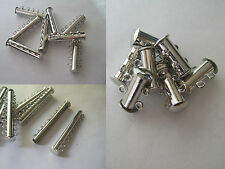 Silver Tone 2 5 10 Strands Magnetic Slide Lock Clasp For Leather Cord Bracelet