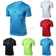 Men's Casual Quick Dry Wicking T-shirts Sports Fitness Gym Tee Shirt Tops M-XXL