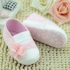 New Toddler Baby Sweet Girls Flower Crib Shoes Soft Sole Slippers Sneakers Shoes
