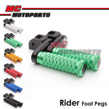 "M-Grip CNC 1.5"" Adjustable Riser Front Foot Pegs for Triumph Daytona T595 97 98"