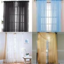 Vogue Nice Door Window Curtain Drape Panel or Scarf Assorted Scarf Sheer Voile