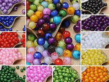 Bulk 100pcs DIY 10mm Round 96 Faceted Beads Abacus Loose Spacer Beads Wholesale#