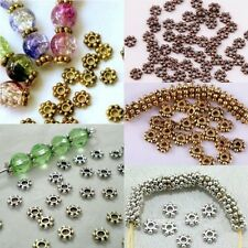 1000pcs  HOT Tibetan Daisy Spacer Metal Beads 4/6mm Jewelry Making Wholesale