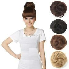 Sweet Pony Tail Women Clip in/on Hair Bun Hairpiece Hair Extension Scrunchie Hot
