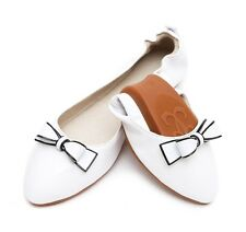 Women's Casual Loafers Bowknot Low Heels Pumps Shallow Mouth Flat Leather Shoes