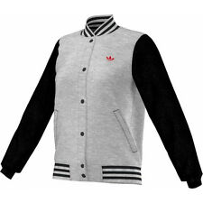 Adidas Bulls Varsity Sports Jacket Ladies Grey Jacket College Size 34-44 NEW