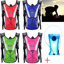 2L Water Bladder Bag Backpack + Hydration Packs Outdoor Hiking Camping Camelbak