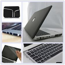 """5in1 Black Frosted Matt Hard Case Cover Bag for Macbook Air Pro 11"""" 13"""" 15""""inch"""