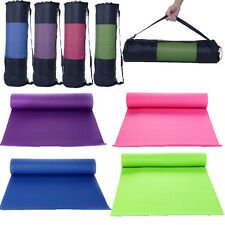 "Exercise Yoga Pilate Mat 6mm 68""x24"" Work Out Fitness Non-Slip Pad Blanket + Bag"