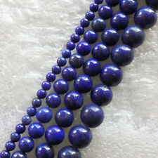 A Stand Beautiful Lapis Lazuli Round loose bead 15.5inch NS-7K