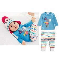 2pcs Newborn Kids Baby Girls Boy Outfit Long Sleeve T-Shirt+Pants Clothes Set