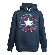 Converse Children All Star Core Hoodie Boys Sweat Hooded Jumper navy