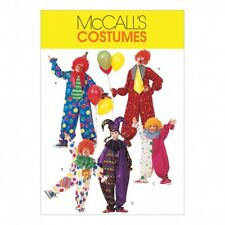 McCalls Family Unisex Easy Sewing Pattern 6142 Clown Costumes (McCalls-6142-M)