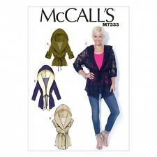 McCalls Ladies Easy Sewing Pattern 7333 Tie Front Jackets with Hood (McCalls-...