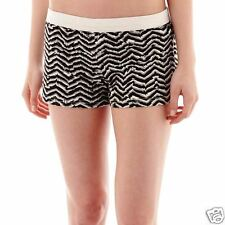 Soffe Low-Rise Animal Chevron Print Shorts Juniors Size XS, S New With Tags