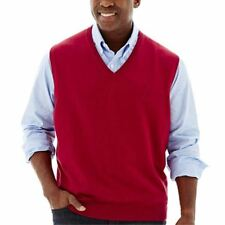 IZOD Essential Sweater Vest Red Dahlia Size 2XLT Msrp $60.00 New