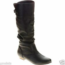 New Womens Faded Glory Women's Slouch Tall Boot Size 9 BLACK Free Shipping
