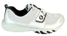 Glagla Classic Silver Velcro Lightweight Machine Washable Running Shoes New