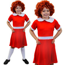 LITTLE ORPHAN GIRL RED FANCY DRESS COSTUME BOOK DAY CHARACTER FILM MUSICAL