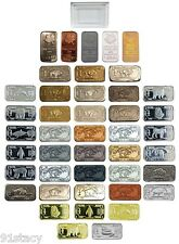 1x Full Monty Mixed Metal Bullion One Gram Bars Inc .999 Silver Titanium Tin +