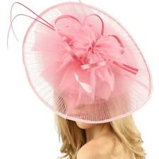 Big Kentucky Derby Feather Floral Organza Headband Fascinator Cocktail Hat