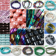 1 Strand Magnetic Hematite Round Square Loose Beads Lady Jewelry Making DIY Gift