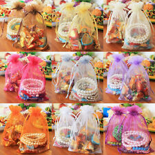 100 pcs Sheer Jewelry Organza Candy Bags Wedding Party Favor Decoration Gift