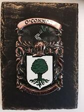 Handpainted COAT OF ARMS Crest Shield on SLATE - Mc Givney  to Mc Ilhenney