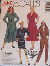 91 McCALLS 5630 Ms Shirt-waist Dress or Jumpsuit PATTERN 10-12-14/14-16-18 UC