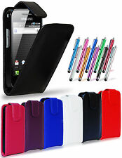 LEATHER FLIP CASE COVER POUCH, LCD FILM & STYLUS FOR SAMSUNG GALAXY ACE S5830