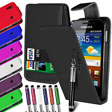 PU LEATHER FLIP CASE COVER, FILM & RETRACTABLE PEN FOR SAMSUNG GALAXY ACE S5830