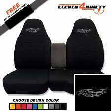 91-15 Ford Ranger Black 60-40 Seat Covers Eagle Flame Logo Choose From 9 colors