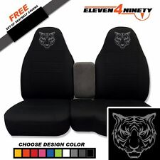 91-15 Ford Ranger Black 60-40 Seat Covers W Tiger Design Choose From 9 colors