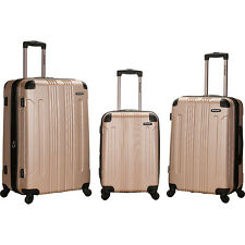 Rockland Luggage Sonic 3 Piece Hardside Spinner Set Hardside Luggage NEW